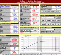 UniBox - программа для расчета акустических систем с базой данных по динамикам (динамическим головкам)